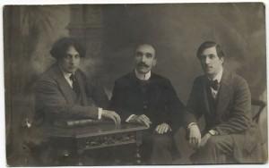 Jurica Tkalčić, Antun Gustav Matoš i Ivica Tkalčić