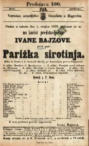 Parižka sirotinja Slika iz života u 5 činah (7 slikah) / po francezkom preveo Stojanović