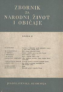 Knj. 37. (1953) : Zbornik za narodni život i običaje