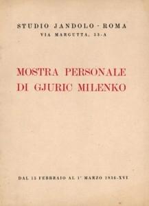 Mostra personale di Gjuric Milenko