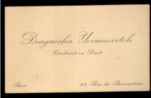 Draguicha Yovanovitch Etudiant en Droit