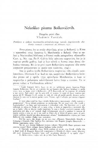Nekoliko pisama Boškovićevih