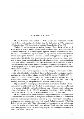 Svetozar Musić : Ljetopis