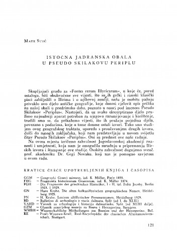 Istočna jadranska obala u Pseudo Skilakovu Periplu