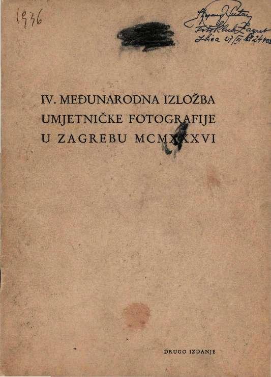 IV. Međunarodna izložba umjetničke fotografije u Zagrebu MCMXXXVI
