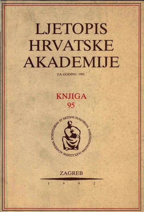 Za godinu 1991. Knj. 95 : Ljetopis