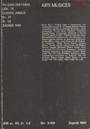 God. 20(1989), br. 1-2 : Arti musices