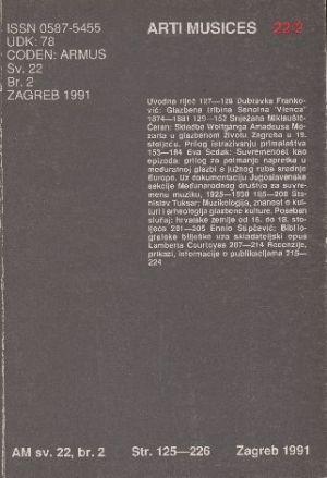 God. 22(1991), br. 2 : Arti musices