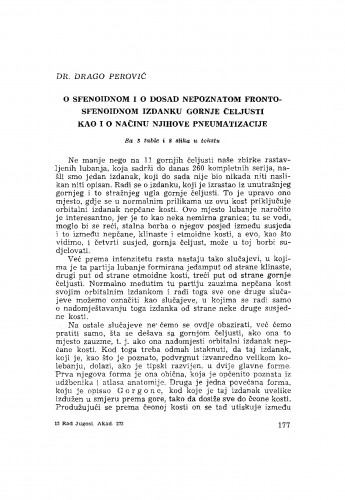 O sfenoidnom i o dosad nepoznatom frontosfenoidnom izdanku gornje čeljusti kao i o načinu njihove pneumatizacije