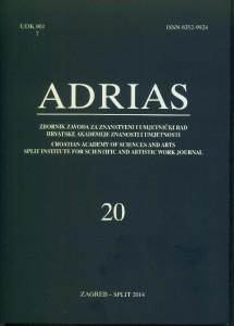 Sv. 20 (2014) : Adrias : zbornik Zavoda za znanstveni i umjetnički rad Hrvatske akademije znanosti i umjetnosti u Splitu