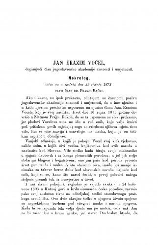 Jan Erazim Vocel : nekrolog : RAD