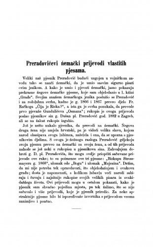 Preradovićevi ńemački prijevodi vlastitih pjesama / Milivoj Šrepel