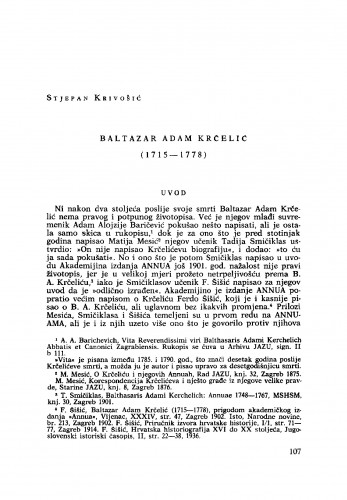 Baltazar Adam Krčelić (1715-1778.)