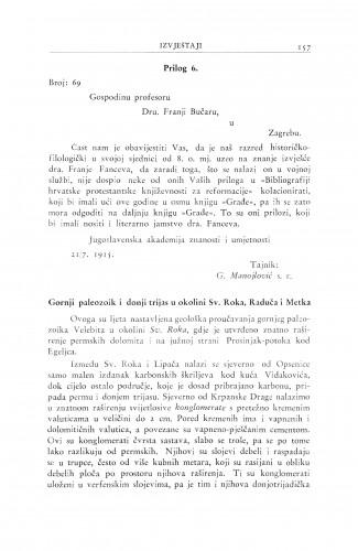 Gornji paleozoik i donji trijas u okolini Sv. Roka, Raduća i Metka / M. Salopek