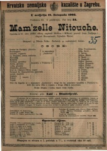 Mam'zelle Nitouche : opereta u tri čina (četiri slike) / napisali Meilhac i Millaud