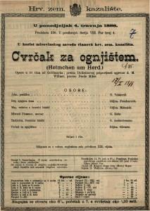 Cvrčak za ognjištem Opera u tri čina / od Goldmarka  =  Heimchen am Herd
