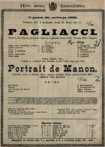 Pagliacci Opera u dva čina sa prologom / Spjevao i uglazio Leoncavallo