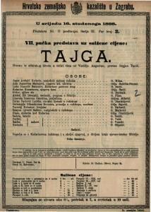 Tajga : Drama iz sibirskog života u četiri čina / od Vasilija Angarina