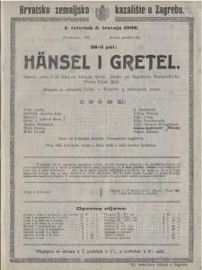 Hänsel i Gretel operna priča u tri slike / od Engelberta Humperedincka