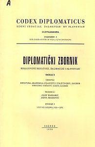 Diplomatički zbornik Kraljevine Hrvatske, Dalmacije i Slavonije