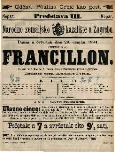 Francillon : Igrokaz u 3 čina / od A. Dumas sina