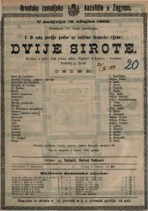 Dvije sirote : igrokaz u četiri čina (osam slika) / napisali D'Ennery i Cormon