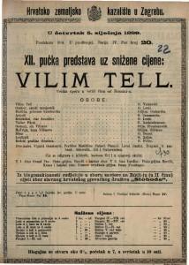 Vilim Tell velika opera u četiri čina / od Rossini-a