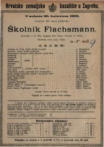 Školnik Flachsmann : komedija u tri čina / napisao Otto Ernst