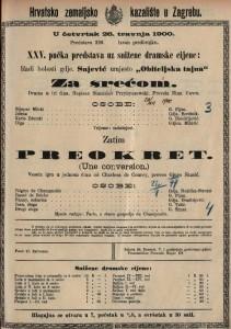 Za srećom drama u tri čina / napisao Stanislav Przybyszewski