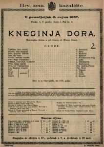 Kneginja Dora Historijska drama u pet činova / od Milana Šenoe