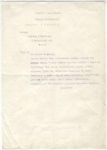 Pismo Terezi d'Andrassy