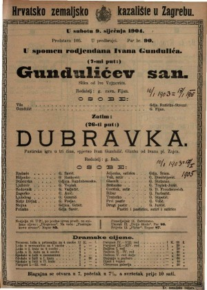 Dubravka Pastrska igra u tri čina / spjevao Ivan Fran Gundulić
