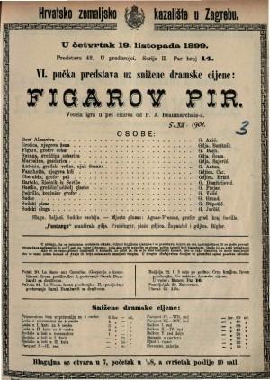 Figarov pir vesela igra u pet činova / od P.A.Beaumarchais-a