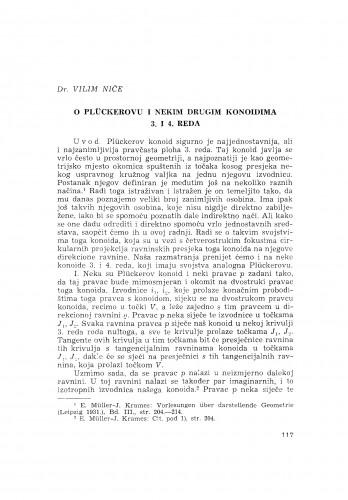 O Plückerovu i nekim drugim konoidima 3. i 4. reda