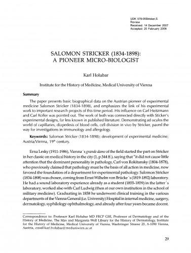Salomon Stricker (1834-1898)