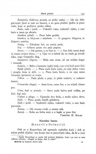 Narodna imena : (Konavli u Dalmaciji.) / P. Bogdan-Bijelić