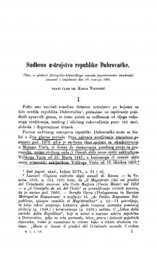 Sudbeno ustrojstvo republike Dubrovačke