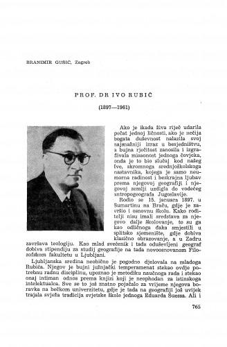 Prof. Dr Ivo Rubić (1897-1961) / B. Gušić