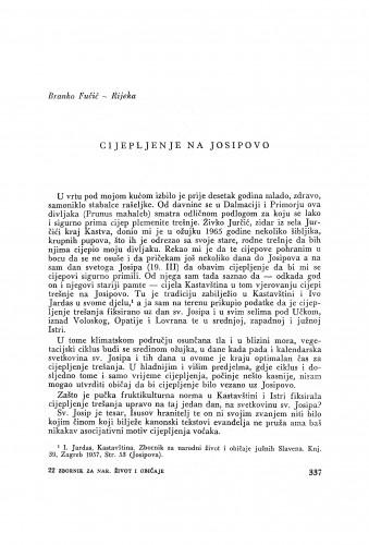Cijepljenje na Josipovo / B. Fučić