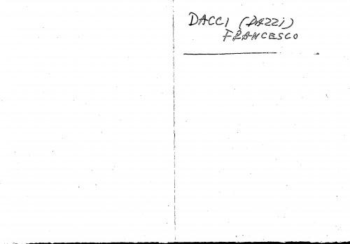 Dacci (Dazzi) Francesco
