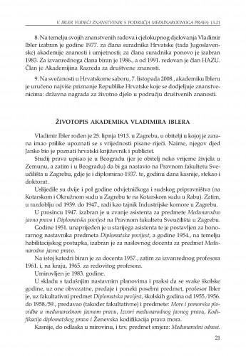 Životopis akademika Vladimira Iblera : Adrias : zbornik Zavoda za znanstveni i umjetnički rad Hrvatske akademije znanosti i umjetnosti u Splitu