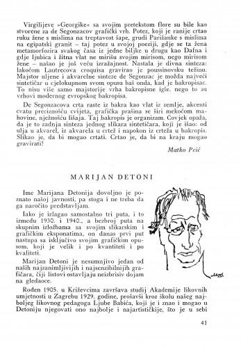 Marijan Detoni : Bulletin Instituta za likovne umjetnosti Jugoslavenske akademije znanosti i umjetnosti