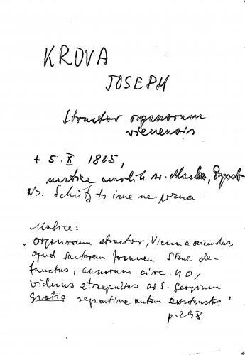 Krova Joseph structor organorum vienensis