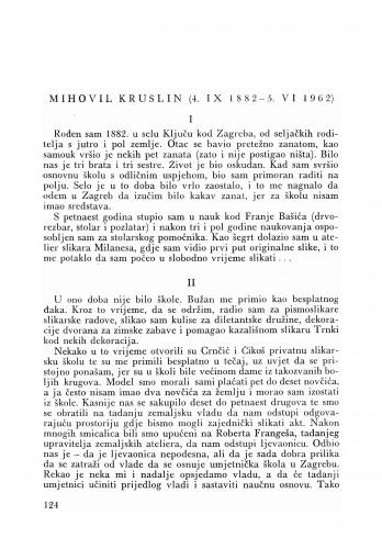 Mihovil Krušlinove (4. IX 1882-5. VI 1962) : [odlomci iz rukopisa Krušlinove
