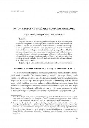 Patohistološke značajke somatotropinoma