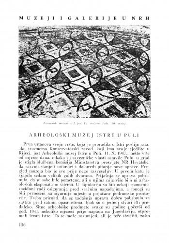 Arheološki muzej Istre u Puli : Bulletin Instituta za likovne umjetnosti Jugoslavenske akademije znanosti i umjetnosti