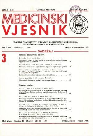 God. 17, br. 3(1985) : Medicinski vjesnik