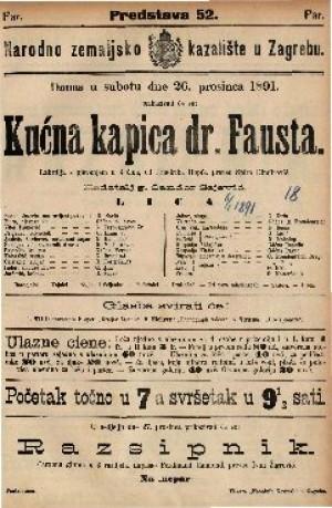 Kućna kapica dr. Fausta Lakrdija s pjevanjem u 3 čina