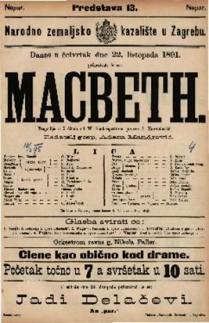 Macbeth Tragedija u 5 činah