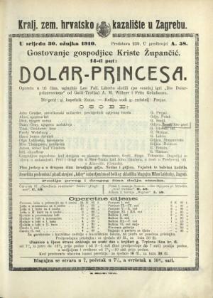 Dolar-Princesa Opereta u tri čina